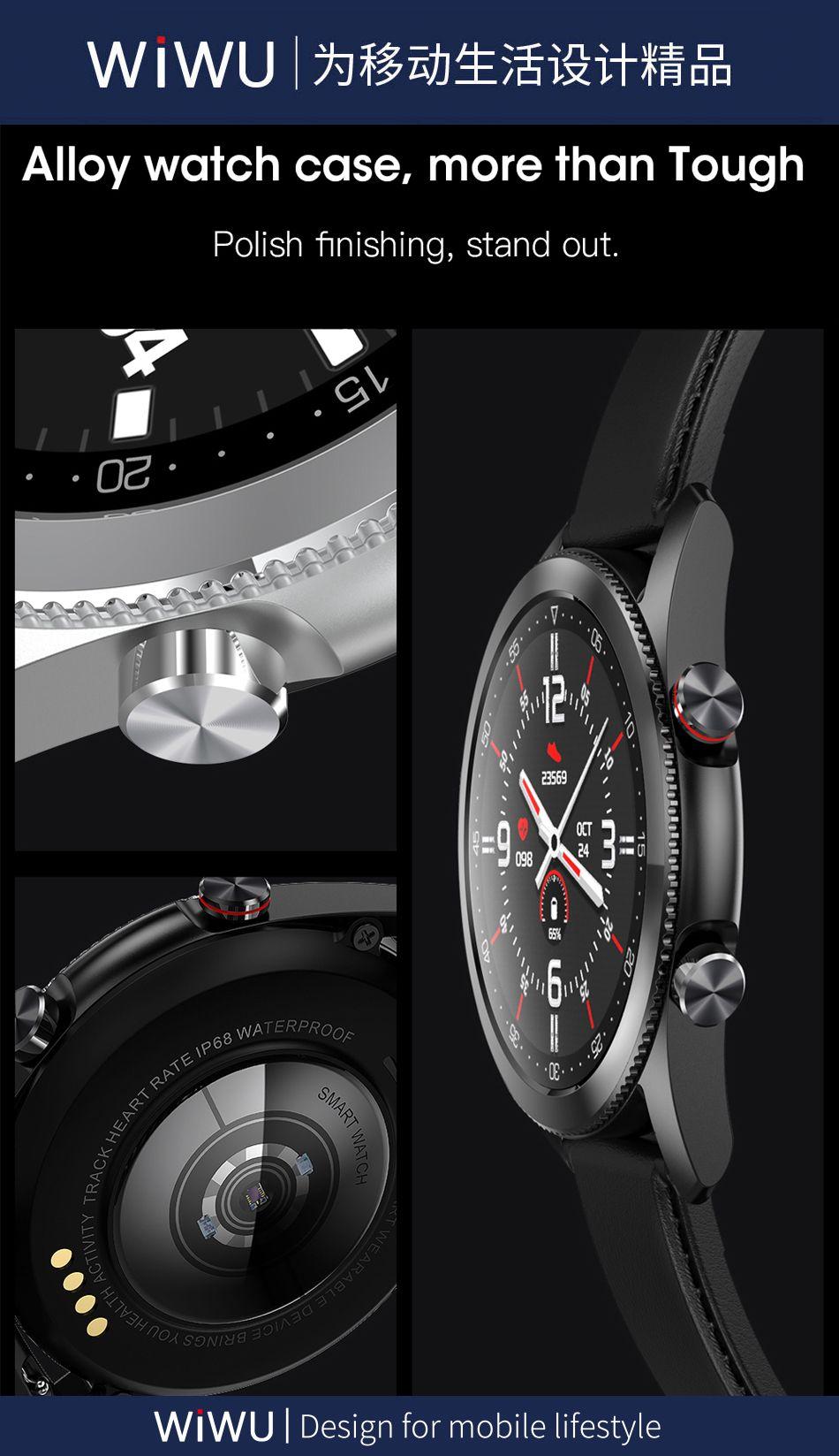 Wiwu Sw02 Smart Watch Touch Screen Fitness Tracker (3)