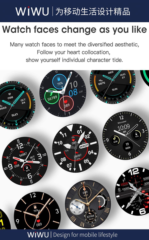Wiwu Sw02 Smart Watch Touch Screen Fitness Tracker (4)