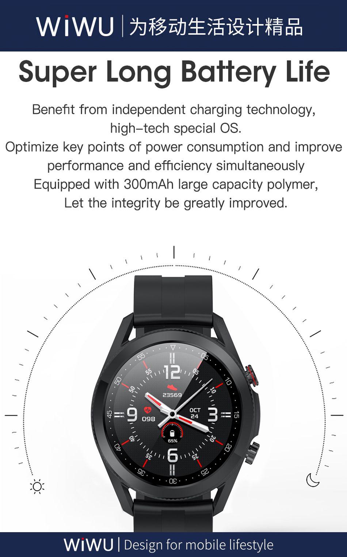 Wiwu Sw02 Smart Watch Touch Screen Fitness Tracker (5)