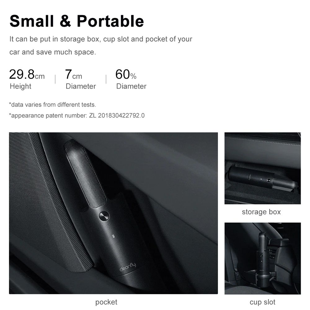 Xiaomi Cleanfly Fvq Portable Car Home Wireless Handheld Vacuum Cleaner (4)