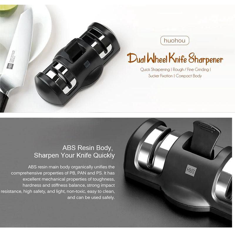 Xiaomi Huohou Knife Sharpener 2 Stages Professional Kitchen Sharpening Tool (1)