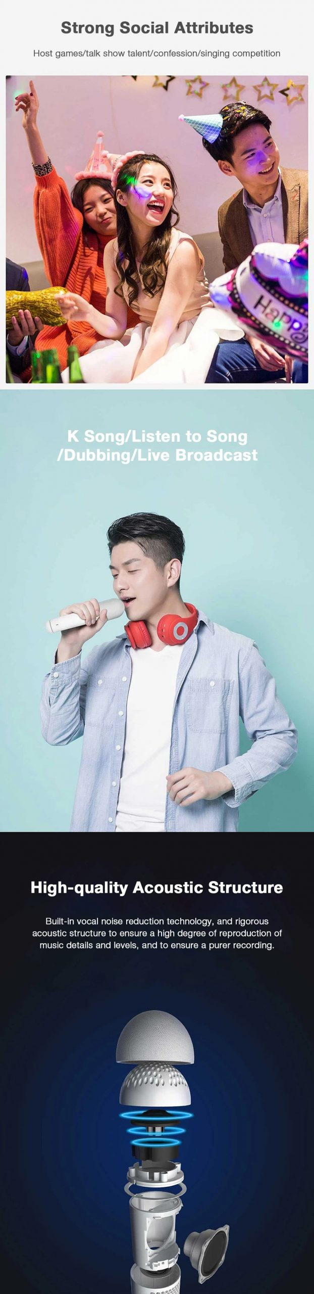 Xiaomi Integrated Bluetooth Microphone Wireless Handheld Voice Control Portable Type C Port (4)