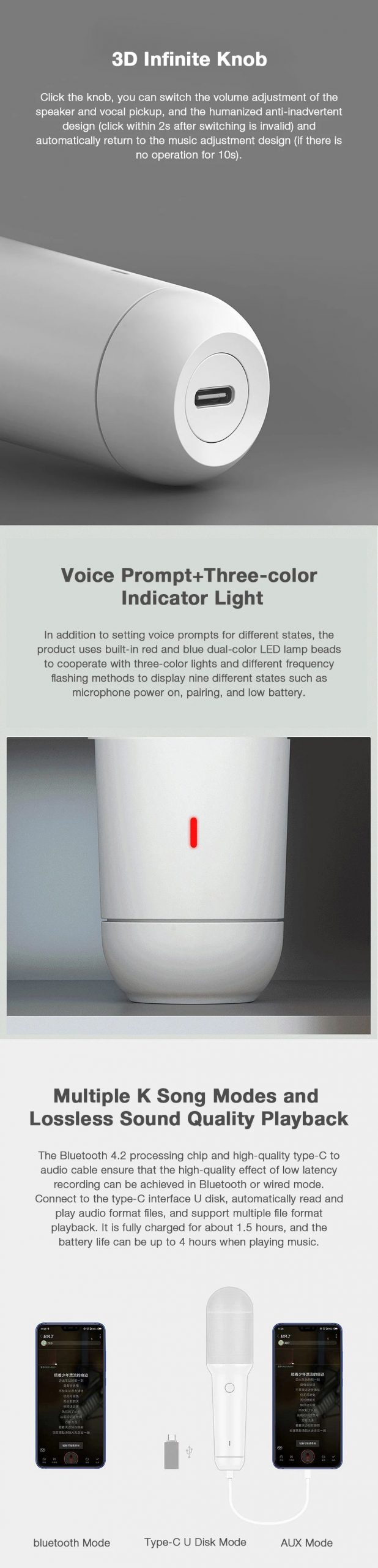 Xiaomi Integrated Bluetooth Microphone Wireless Handheld Voice Control Portable Type C Port (5)