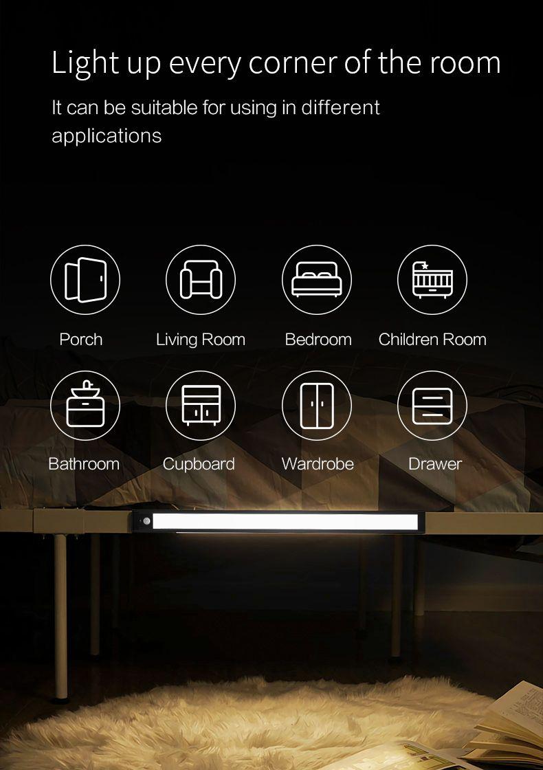 Xiaomi Intelligent Sensor Cabinet Night Light 4000k Magnetic Mounted Bar Screen (4)