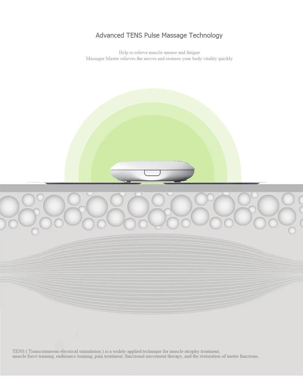 Xiaomi Magic Touch Sticker Massage Electric Muscle Stimulator Full Body Relax Neck Back Mas ( (3)
