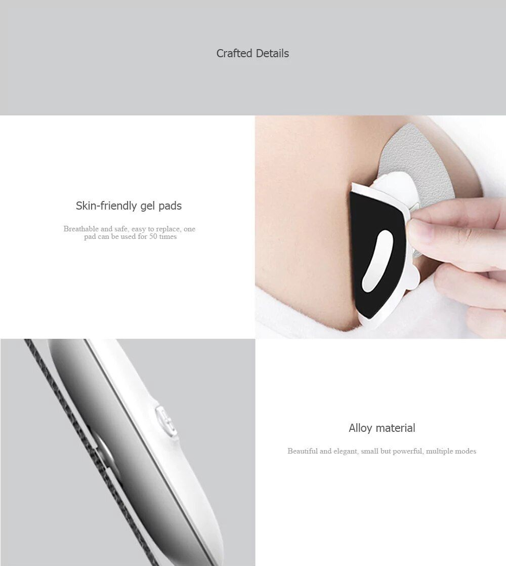 Xiaomi Magic Touch Sticker Massage Electric Muscle Stimulator Full Body Relax Neck Back Mas ( (4)