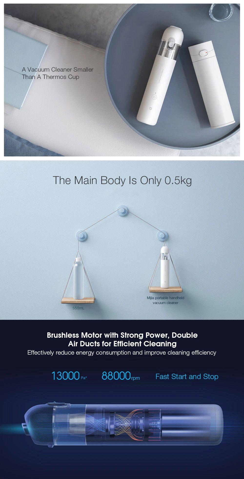 Xiaomi Mijia Handheld Vacuum Cleaner Portable Handy Vacuum Cleaner (2)