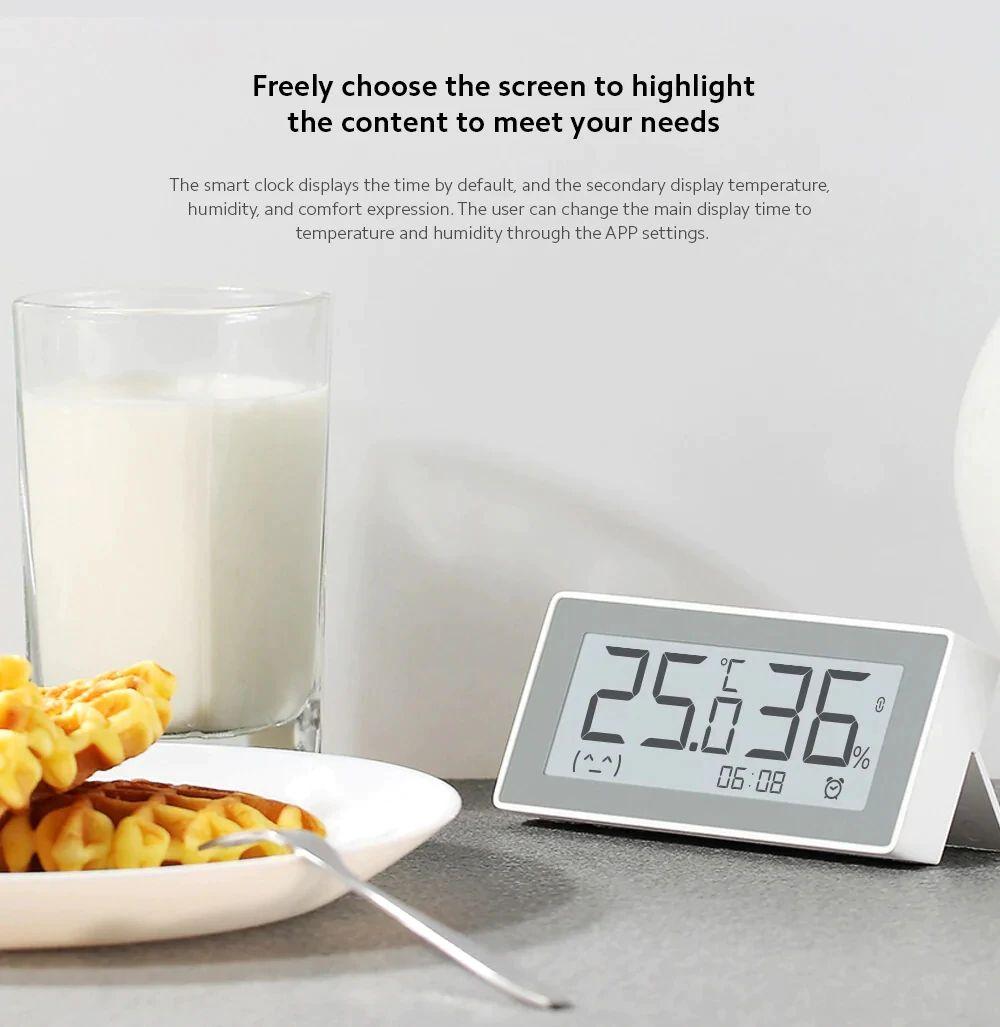 Xiaomi Mijia Mmc Bt4 0 Smart Electric Digital Clock Thermometer (6)
