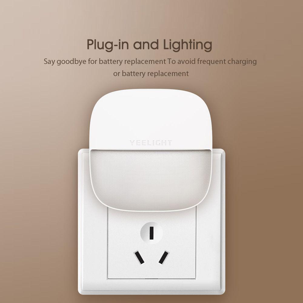 Xiaomi Yeelight Night Light Led Wall Plug In Lamp Controlled Infrared Motion Sensor (4)
