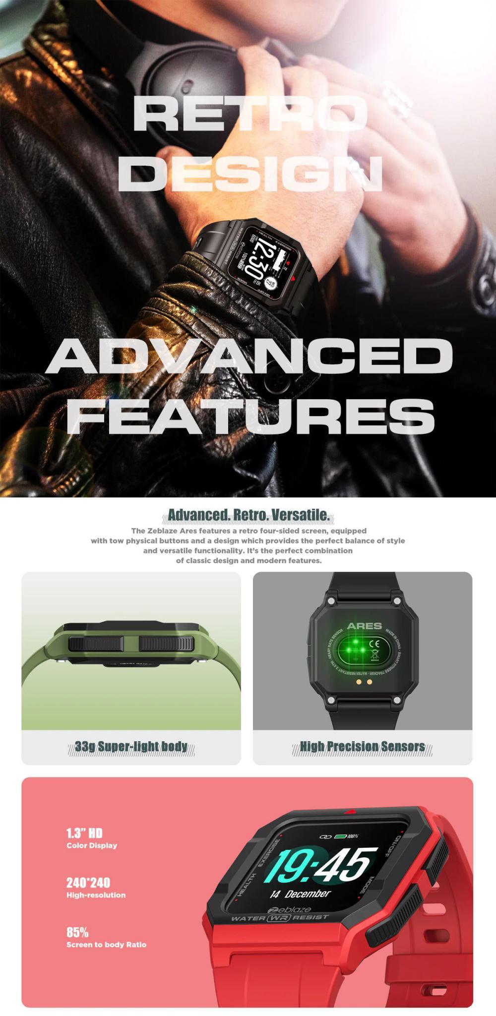 Zeblaze Ares Smart Watch Bluetooth 5 1 Heart Rate Tracking Smartwatch (6)