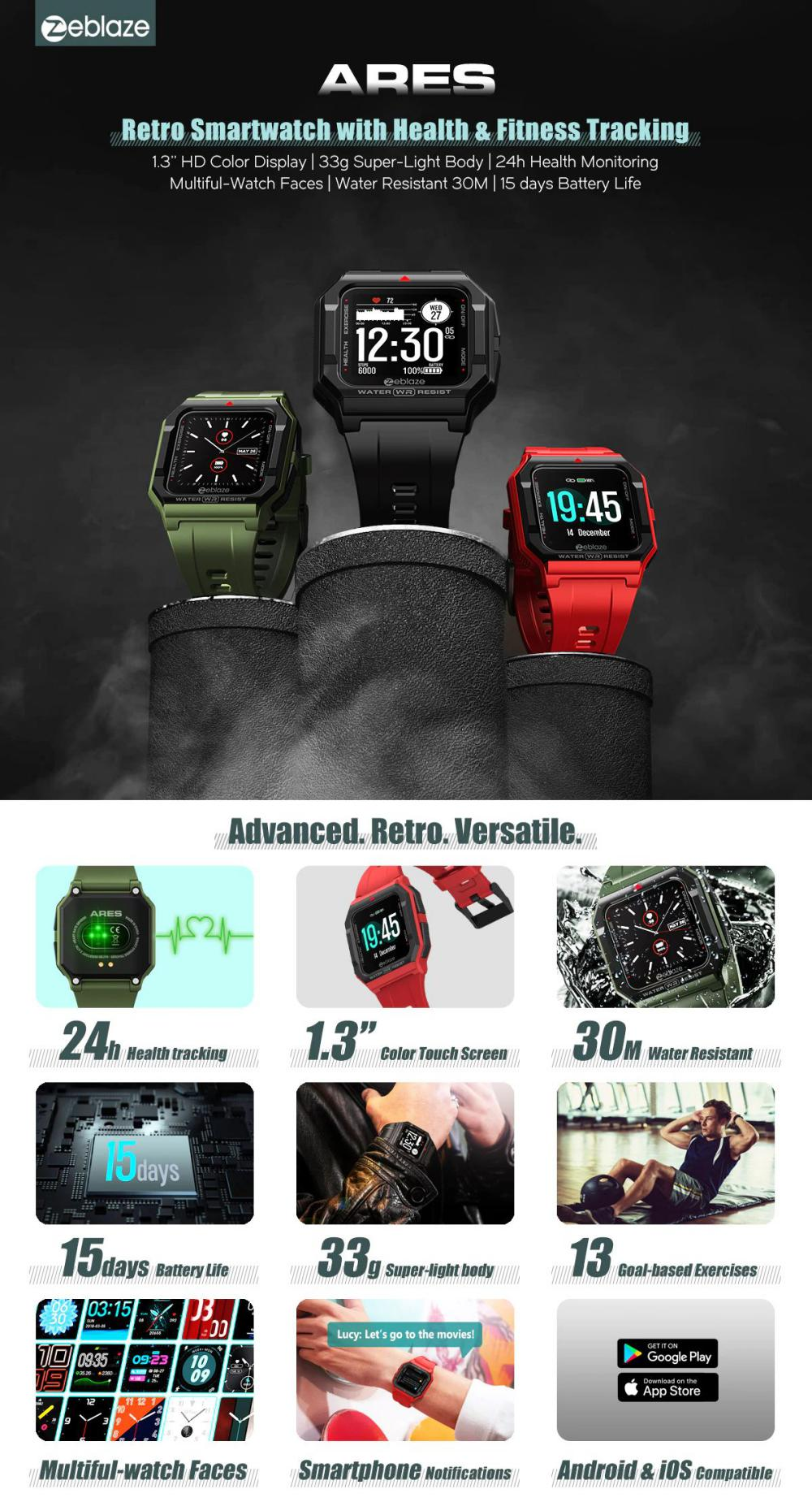 Zeblaze Ares Smart Watch Bluetooth 5 1 Heart Rate Tracking Smartwatch (9)