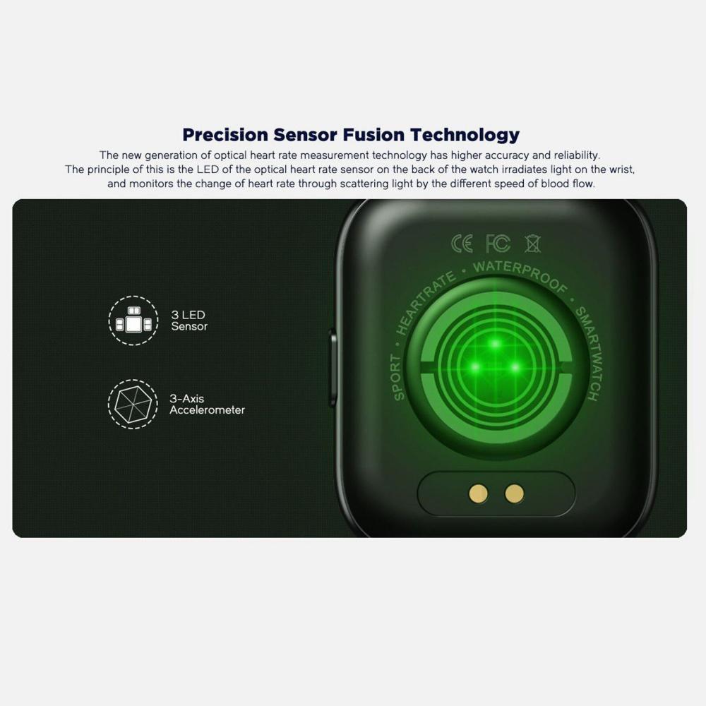 Zeblaze Gts Pro 1 65 Hd Color Touch Screen Health Fitness Smartwatch (3)