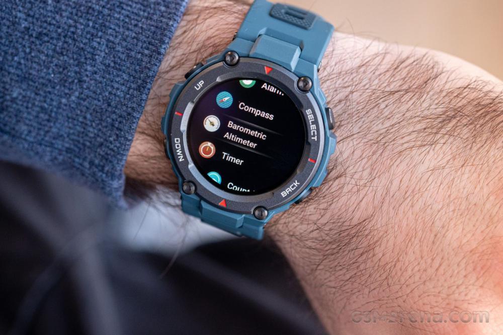 Amazfit T Rex Pro Smartwatch Fitness Watch With Spo2 Blue (3)