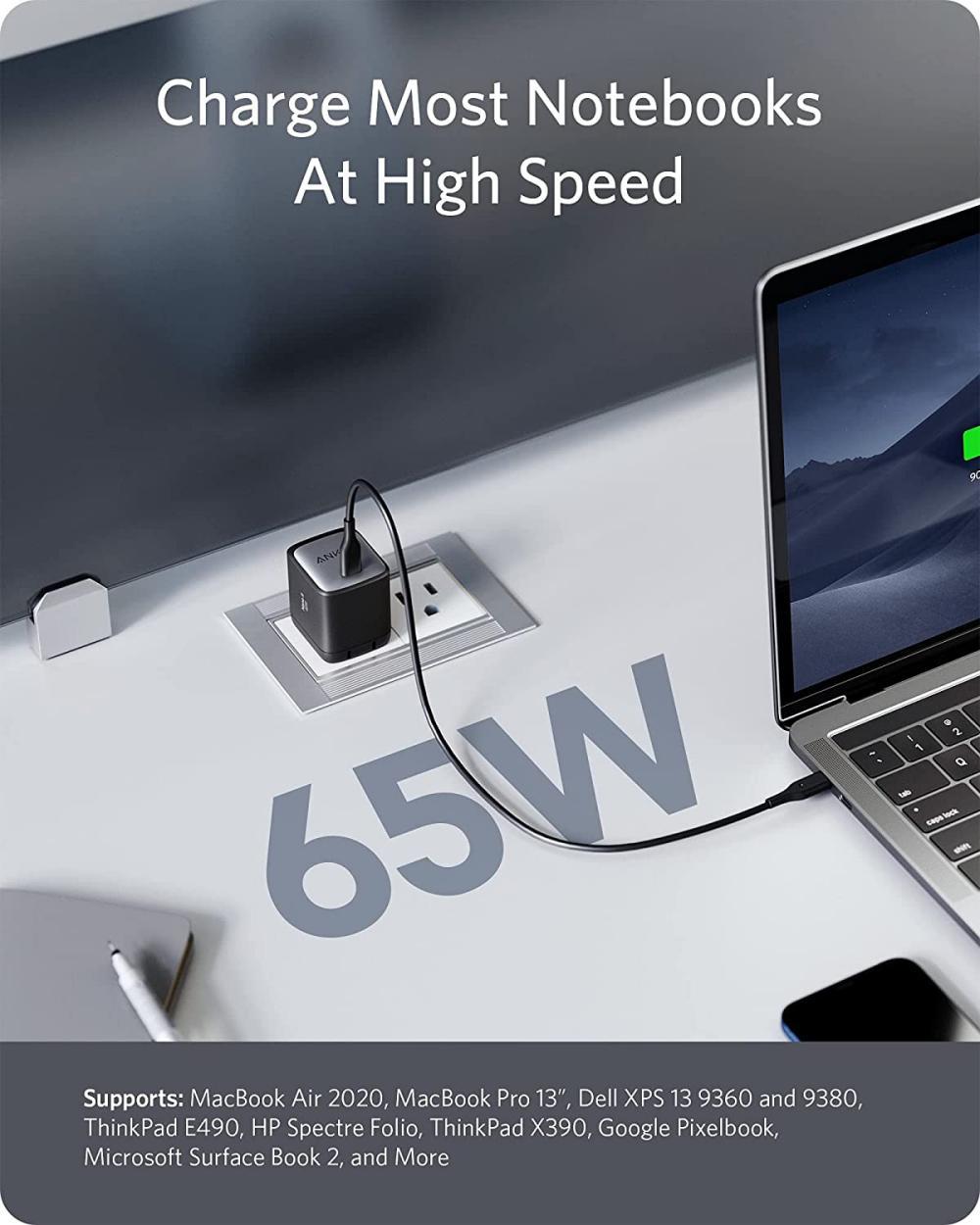 Anker Nano Ii 65w Gan Ii Pps Usb C Fast Charger Adapter (3)