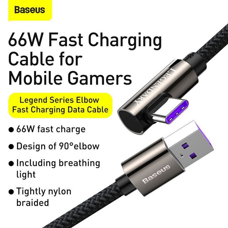Baseus Legend Series Elbow 66w Usb To Type C Fast Charging Data Cable (6)