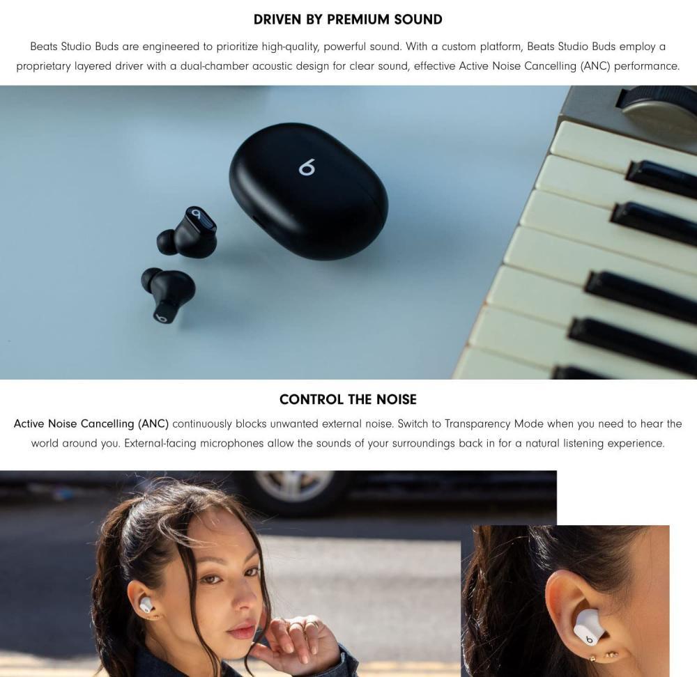 Beats Studio Buds True Wireless Noise Cancelling Earbuds (2)
