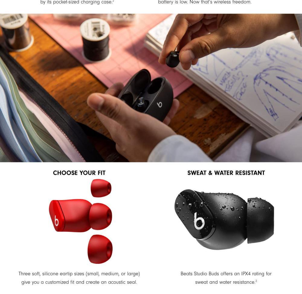 Beats Studio Buds True Wireless Noise Cancelling Earbuds (4)