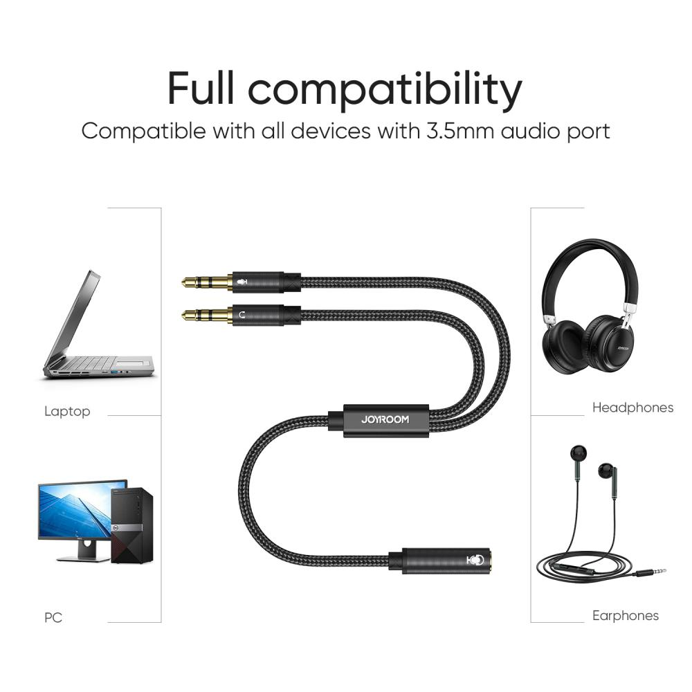 Joyroom Sy A05 2in1 Y Splitter Headphone Audio Cable (6)
