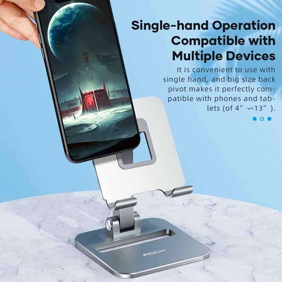 Rock Adjustable Desktop Phone And Tablet Stand (2)