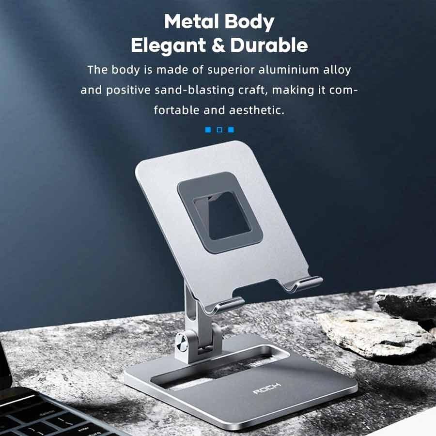 Rock Adjustable Desktop Phone And Tablet Stand (3)