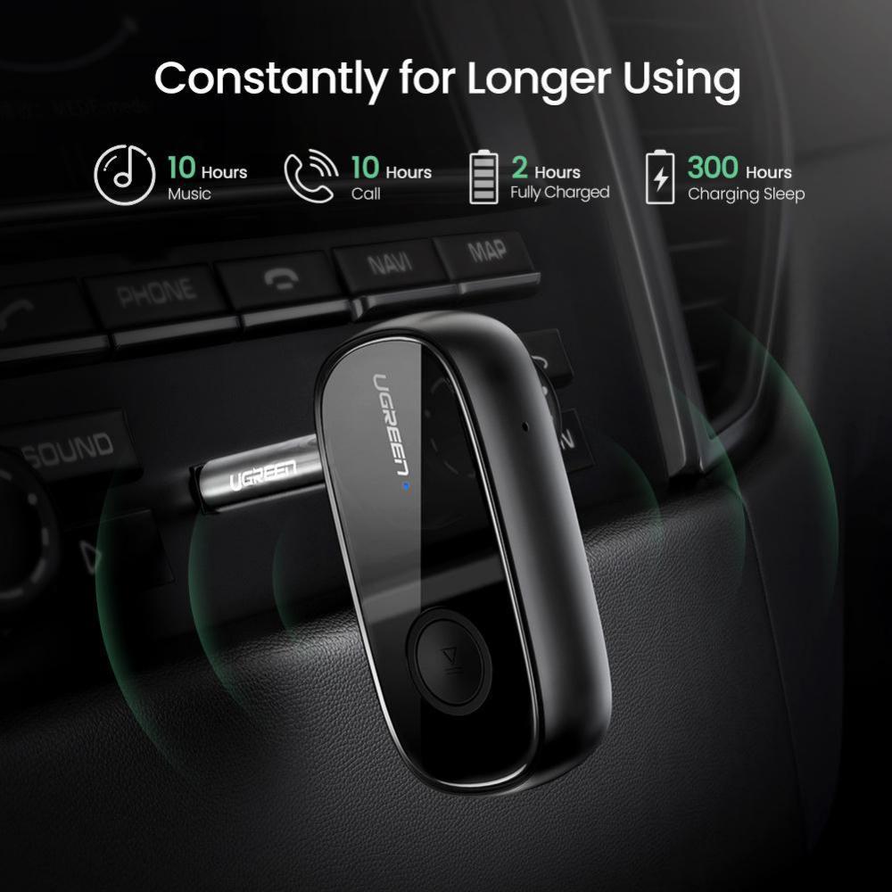 Ugreen Bluetooth 5 0 Receiver Car Wireless Audio Adapter 3 5mm Aux (2)
