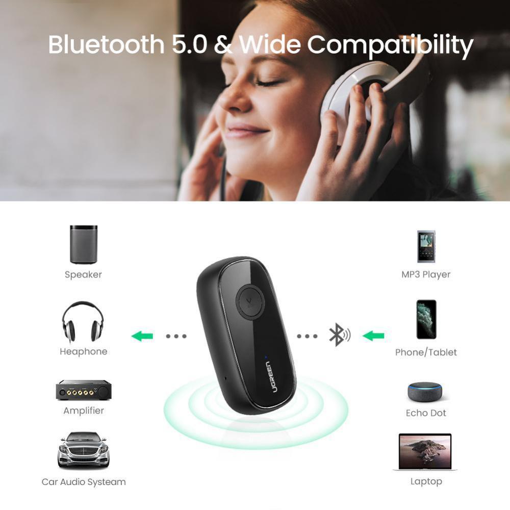 Ugreen Bluetooth 5 0 Receiver Car Wireless Audio Adapter 3 5mm Aux (3)