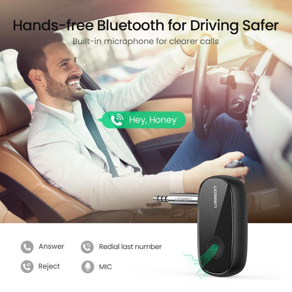 Ugreen Bluetooth 5 0 Receiver Car Wireless Audio Adapter 3 5mm Aux (4)