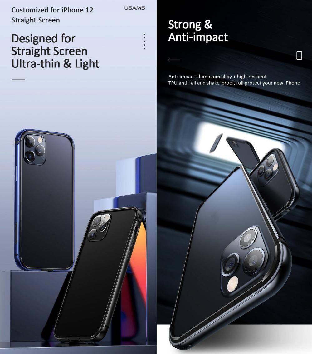 Usams Aluminum Alloy Tpu Bumper Case For Iphone 12 Mini 12 12 Pro 12 Pro Max (2)