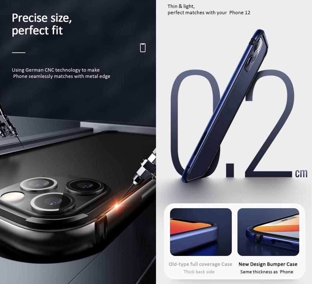 Usams Aluminum Alloy Tpu Bumper Case For Iphone 12 Mini 12 12 Pro 12 Pro Max (4)
