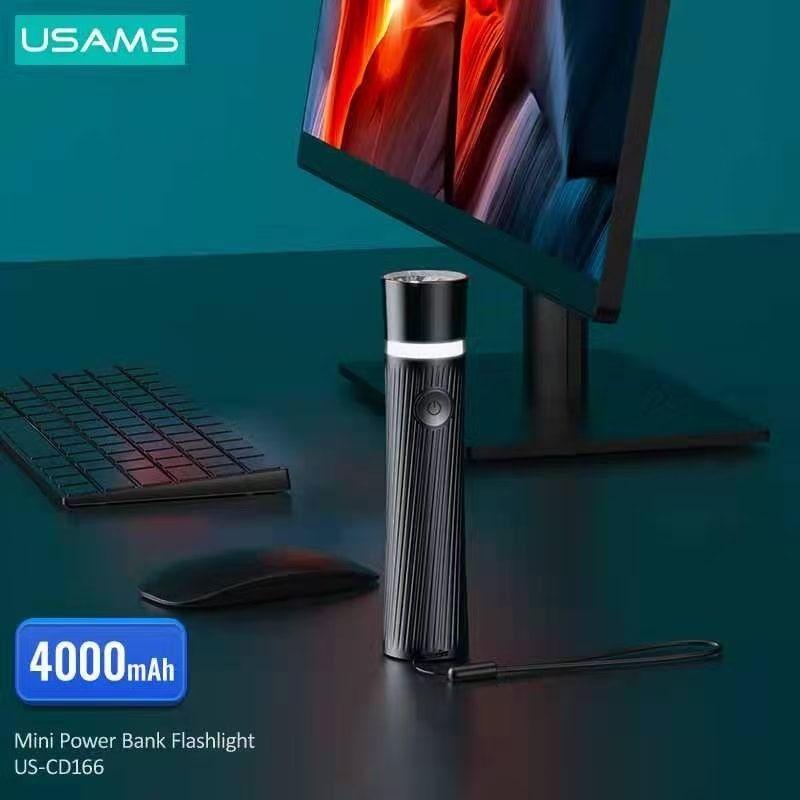 Usams Us Cd166 Mini Power Bank Rechargeable Led Flashlight 4000mah (1)