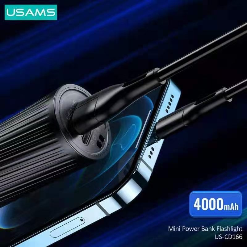 Usams Us Cd166 Mini Power Bank Rechargeable Led Flashlight 4000mah (3)