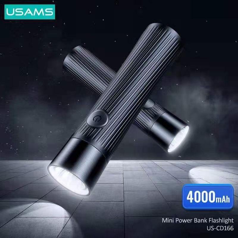 Usams Us Cd166 Mini Power Bank Rechargeable Led Flashlight 4000mah (4)