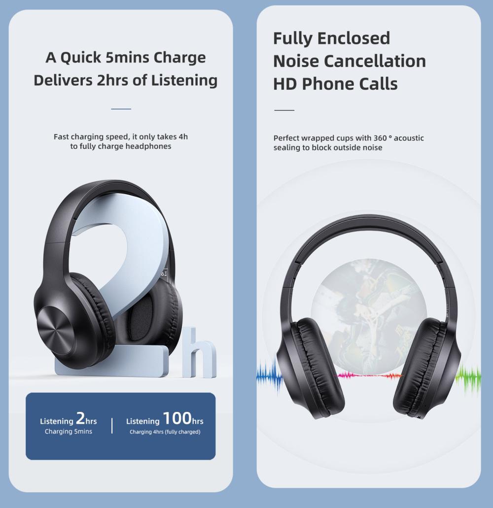 Usams Yx05 Bluetooth 5 0 Wireless Headphones (3)