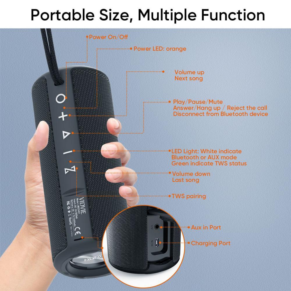Vidvie Wireless Speaker 18w Wgc3401 Ipx 6 Tws Connect (3)
