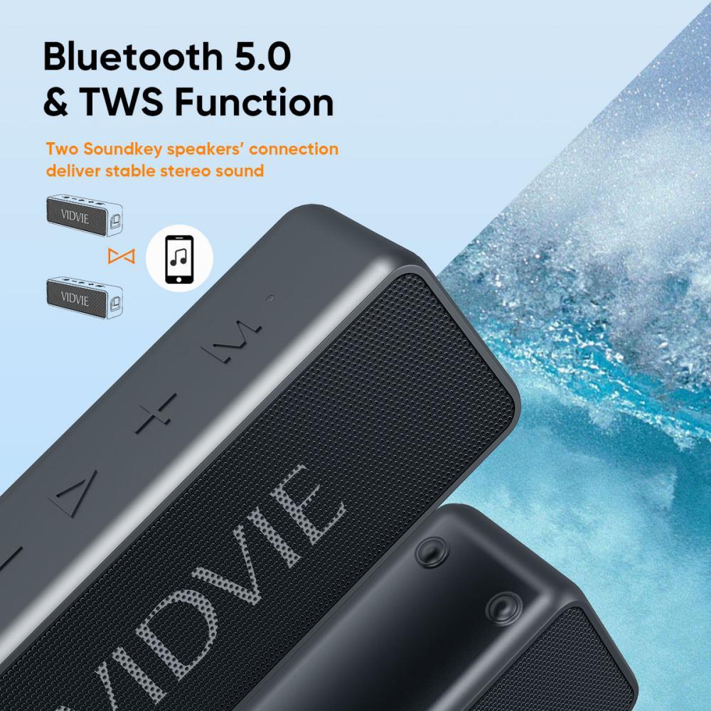 Vidvie Wireless Speaker 20w Sp914 Ipx 7 Tws Connect Tf Card Slot (2)