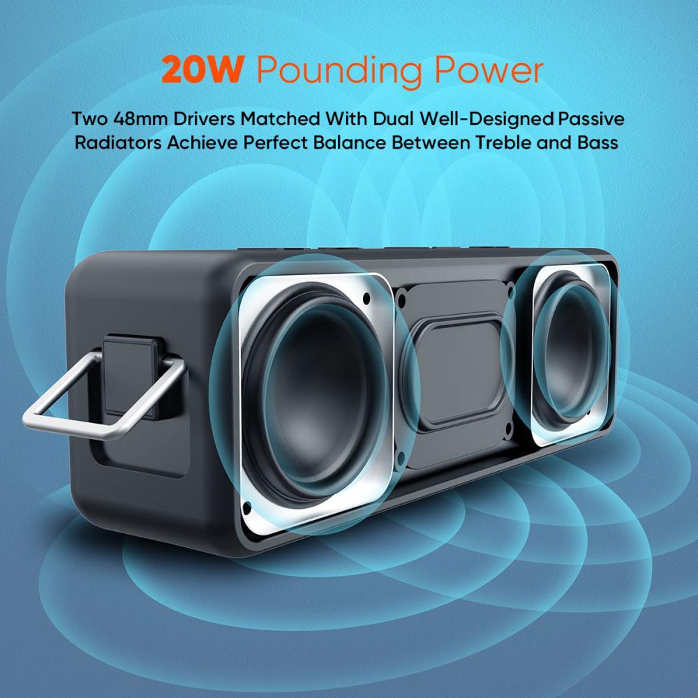 Vidvie Wireless Speaker 20w Sp914 Ipx 7 Tws Connect Tf Card Slot (4)