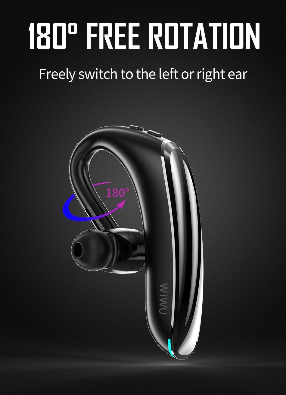Wiwu Solo Max Bluetooth 5 0 Single Ear Bluetooth Earphone (3)