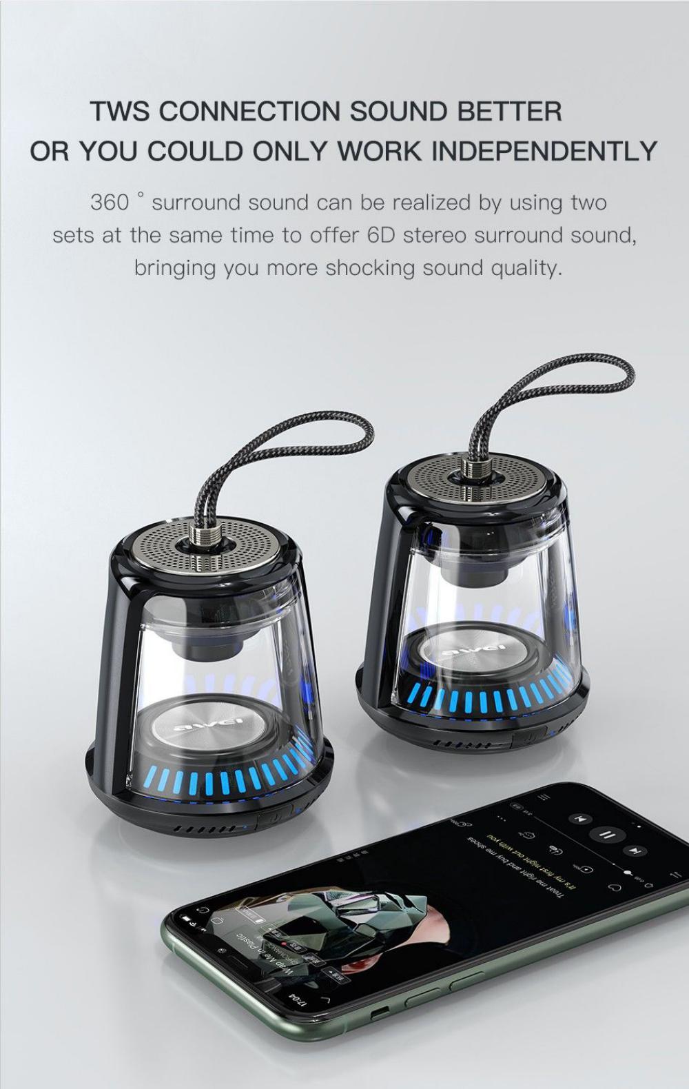 Awei Y666 5w Tws Portable Bluetooth Speaker (4)