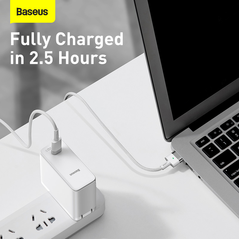 Baseus 60w Magnetic Ip Laptop Charging Cable Type C To T Port For Macbook Air Macbook Pro (6)