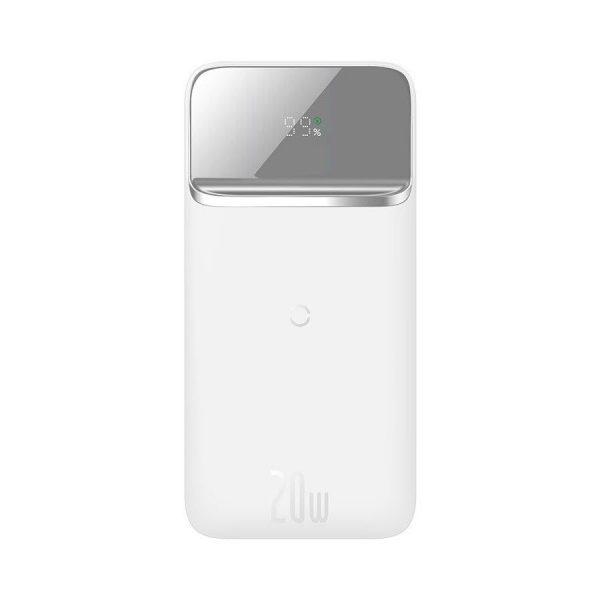 Baseus Power Bank 10000mah Portable 20w Magnetic Wireless Charger White (1)