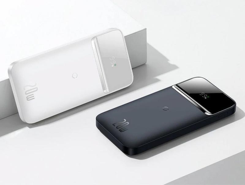 Baseus Power Bank 10000mah Portable 20w Magnetic Wireless Charger White (3)