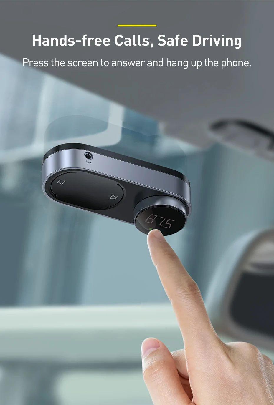 Baseus Solar Car Wireless Bluetooth Mp3 Player Black (1)