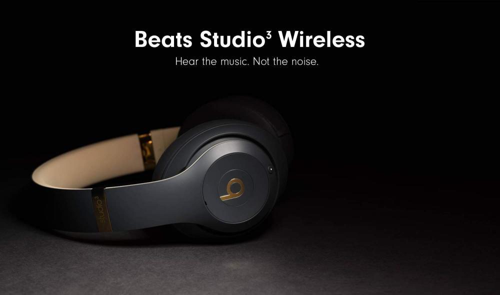 Beats Studio 3 Wireless Noise Cancelling Over Ear Headphones Black (2)