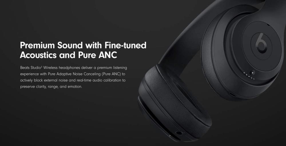 Beats Studio 3 Wireless Noise Cancelling Over Ear Headphones Black (3)
