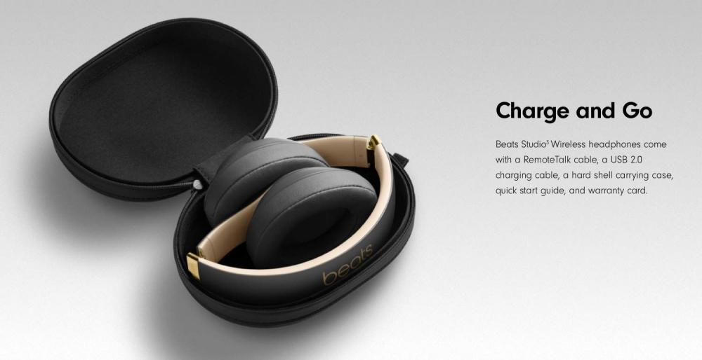 Beats Studio 3 Wireless Noise Cancelling Over Ear Headphones Black (5)
