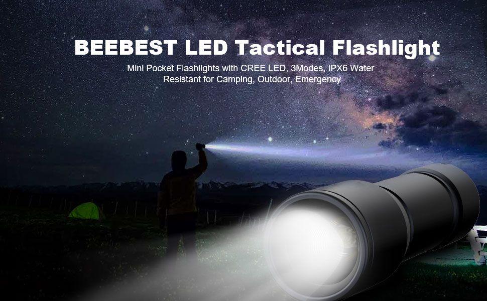 Beebest Led Tactical Flashlight S3000 Mini Pocket Flashlights (1)