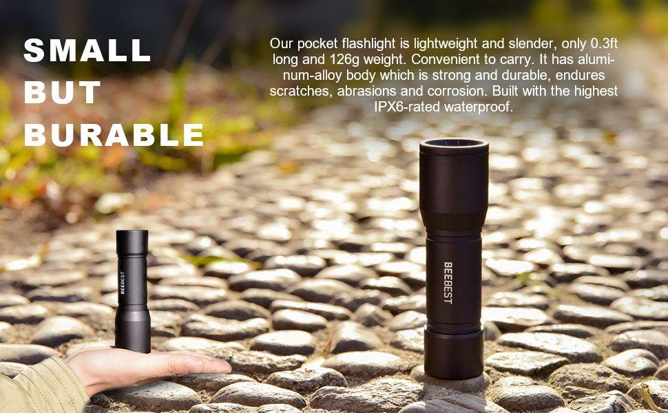 Beebest Led Tactical Flashlight S3000 Mini Pocket Flashlights (3)