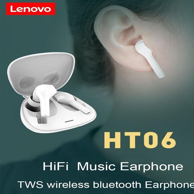 Lenovo Ht06 Tws Bluetooth 5 0 Waterproof Dual Mic Wireless Earbuds (3)