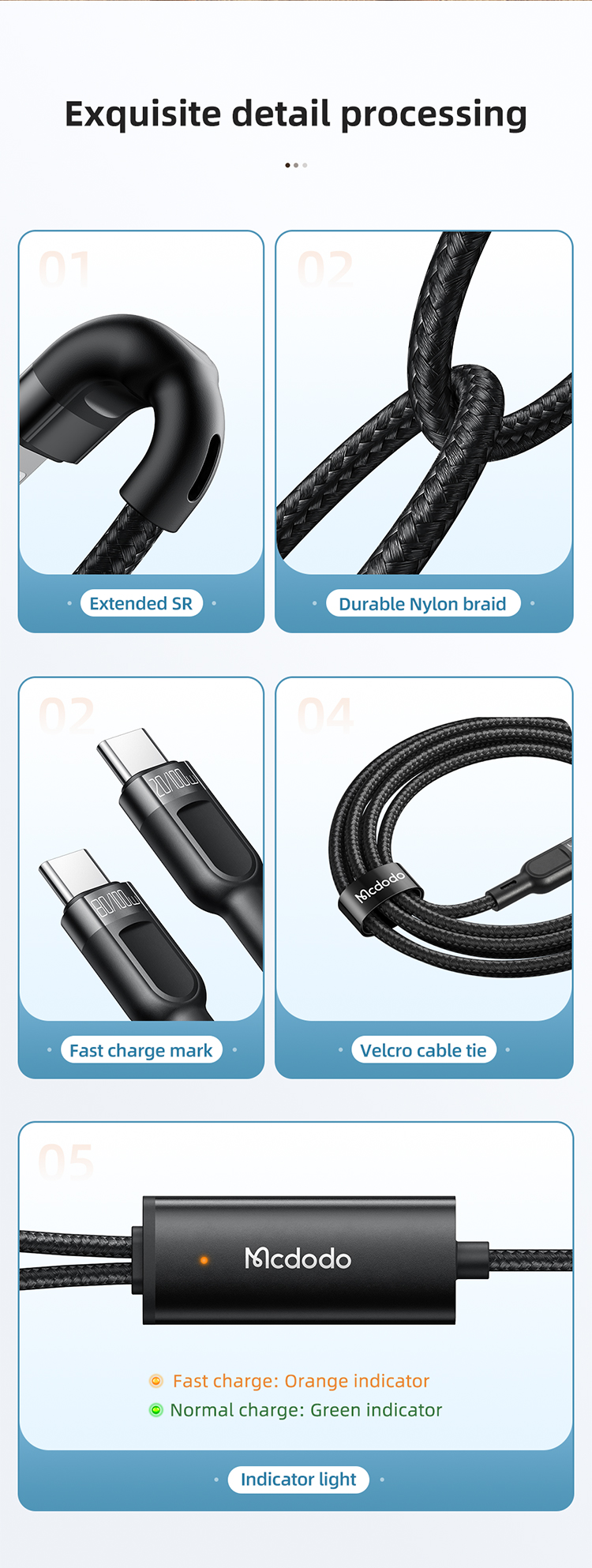 Mcdodo 2 In 1 Type C To Dual Type C Cable 1 2m 100w Max (3)
