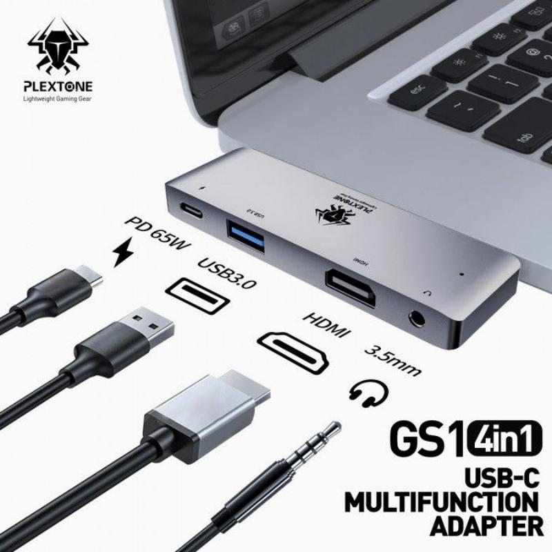 Plextone Gs1 Mark Iii 4 In 1 Usb C Multifunction Adapter Hub (2)